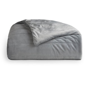 "Malouf Weighted Blanket, 48"" x 72"", 20 lbs, Driftwood,"