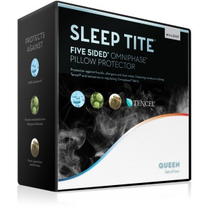 Five 5ided® Pillow Protector with Tencel® + Omniphase® King Pillow Protector