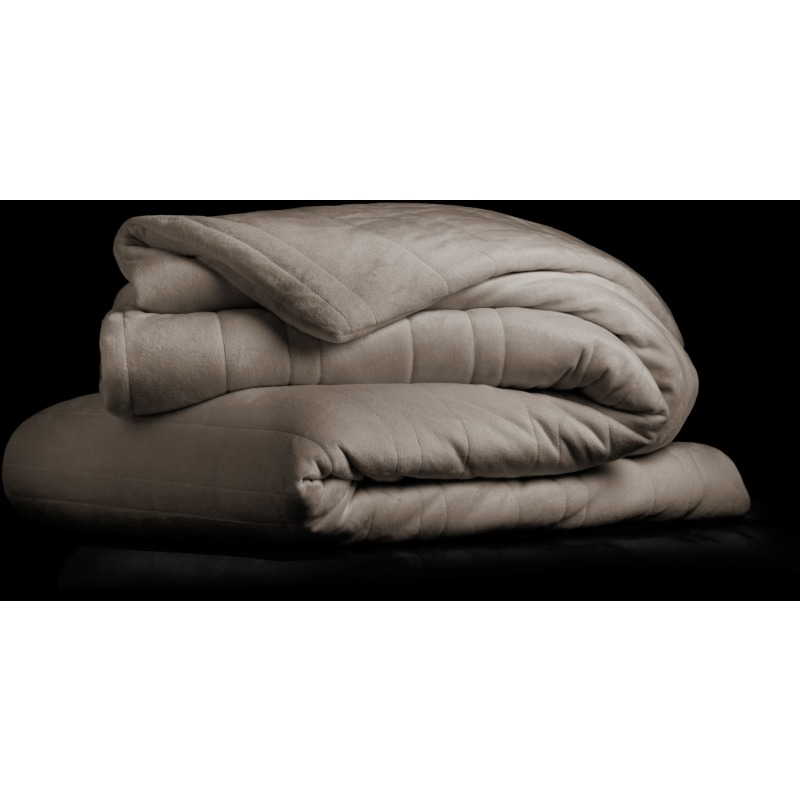 "Malouf Weighted Blanket, 60"" x 80"", 15 lbs, Driftwood"