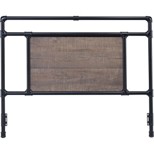 Elkton Queen Black Metal Headboard