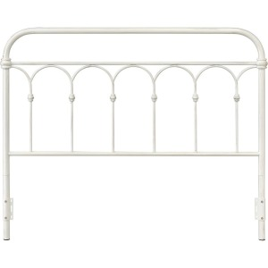 Hallwood Queen Antique White Metal Headboard