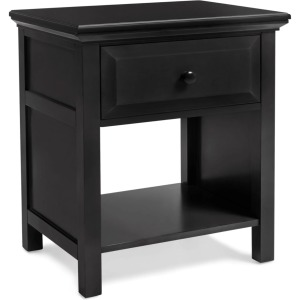Cottage Nighstand - Ebony Black