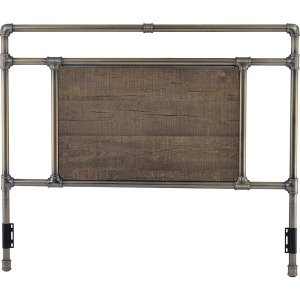 Elkton Queen Antique Brass Metal Headboard