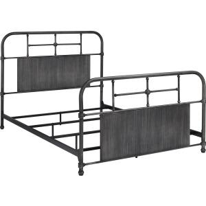 Cheriton Queen Gray Metal Bed