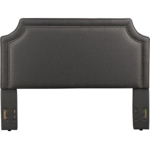 Brantford King/Cal King Upholstered Headboard - Charcoal