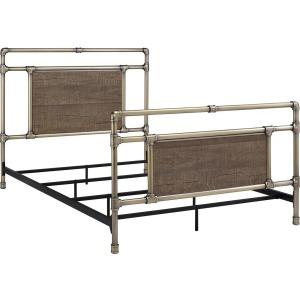 Elkton Full Antique Brass Metal Bed