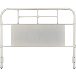 Cheriton Queen King Antique White Metal Headboard