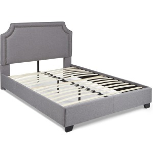 Brantford King Upholstered Platform Bed - Grey