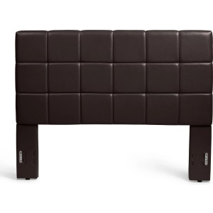 Kenora Twin Faux Leather Headboard - Brown