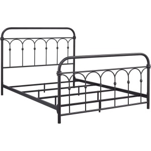 Hallwood King Rust Metal Bed