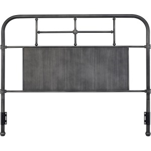 Cheriton Queen Gray Metal Headboard