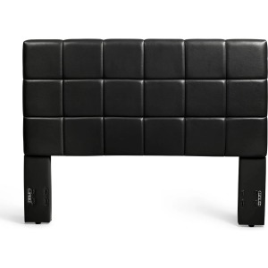 Kenora Twin Faux Leather Headboard - Black