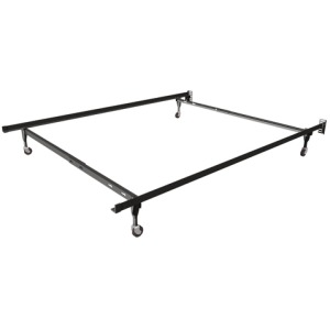 Low Boy Twin/Full Insta-Lock Bed Frame with Glides
