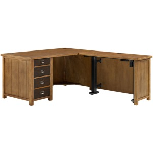 Heritage L-Shaped Desk w/Stand Up Return
