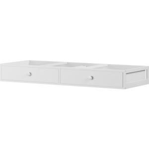 2 Drawer Under Bed Dresser Unit : White