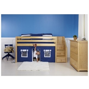 Loft Bed with Storage Drawers