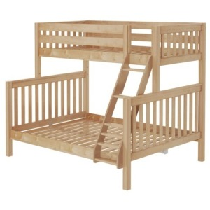 High Twin XL Over Queen Bunk Bed with Ladder - Natural