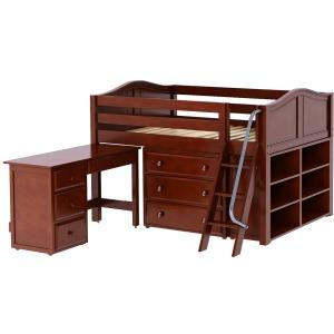 Desk w/Drawers Ledt Chestnut