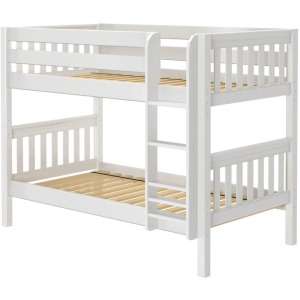 Twin XL Low Bunk Bed - White