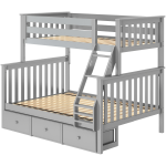 Kent Twin Over Full Bunk Bed with Storage Drawers
