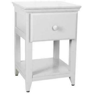 1 Drawer Nightstand - White