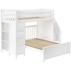 Oxford Solid Pine Loft Bunk Bed