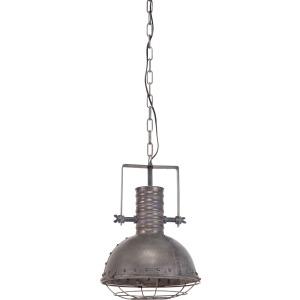 Zaio Gray Metal Caged Bulb Pendant Light