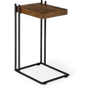 Maddox II Black Iron Chairside Table