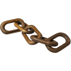 Alix Brown Wooden Hand-Made 5 Link Chain