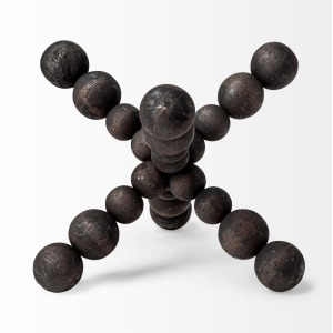 Carrollan II Black Geometric Wood Ball Jack