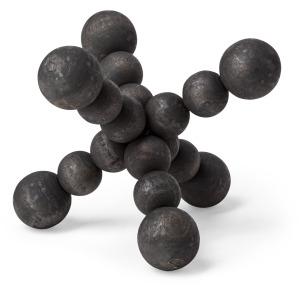 Carrollton I Small Black Geometric Wood Ball Jack