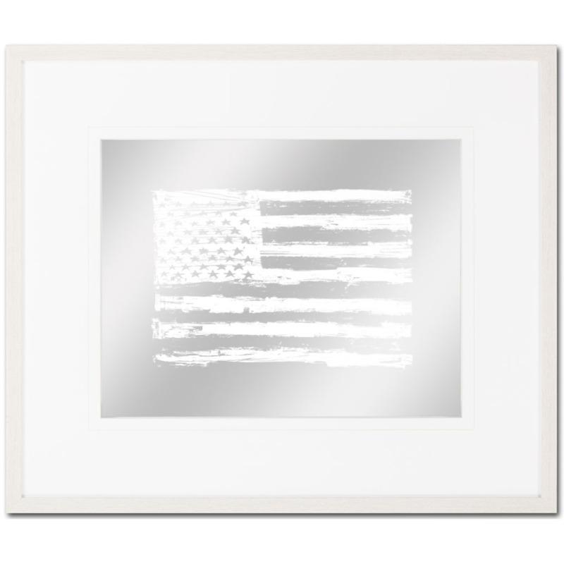 American Scratch Flag 2 white