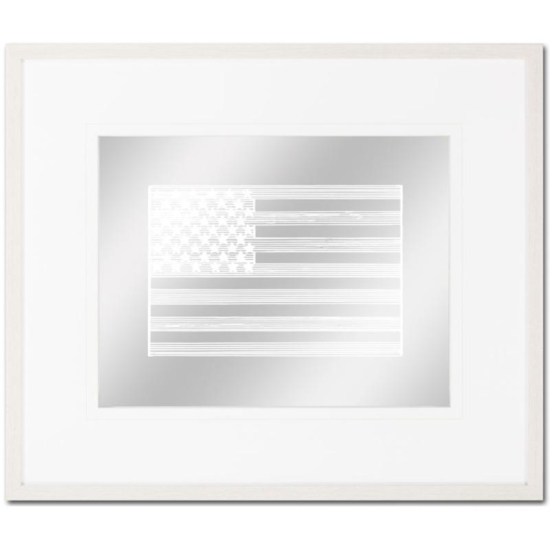 American Stripe Flag 1 white