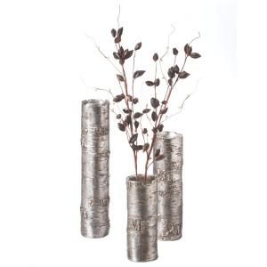 Antique Silver Branch Vase set/3.