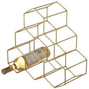 Gold Honeycomb Wine Holder