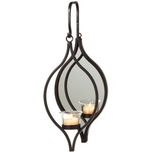Hanging Single Tealight Holder with Mirror
