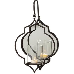 Hanging Geo Tealight Holder with Mirror.