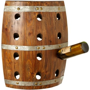 Wall Mounted Barrel Wine Holder