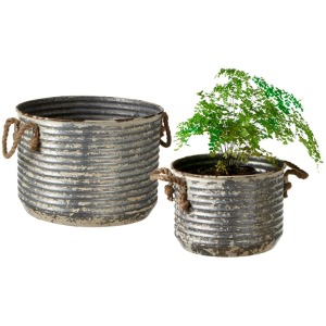 Corrugated Planter with Rope Handle set/2