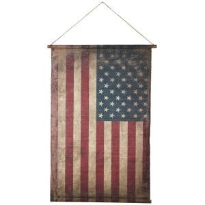 Vintage Canvas American Flag Wall Decor