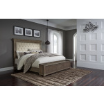 Johnelle King Upholstered Panel Bed with Storage