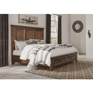 Royard Queen Panel Bed with Storage
