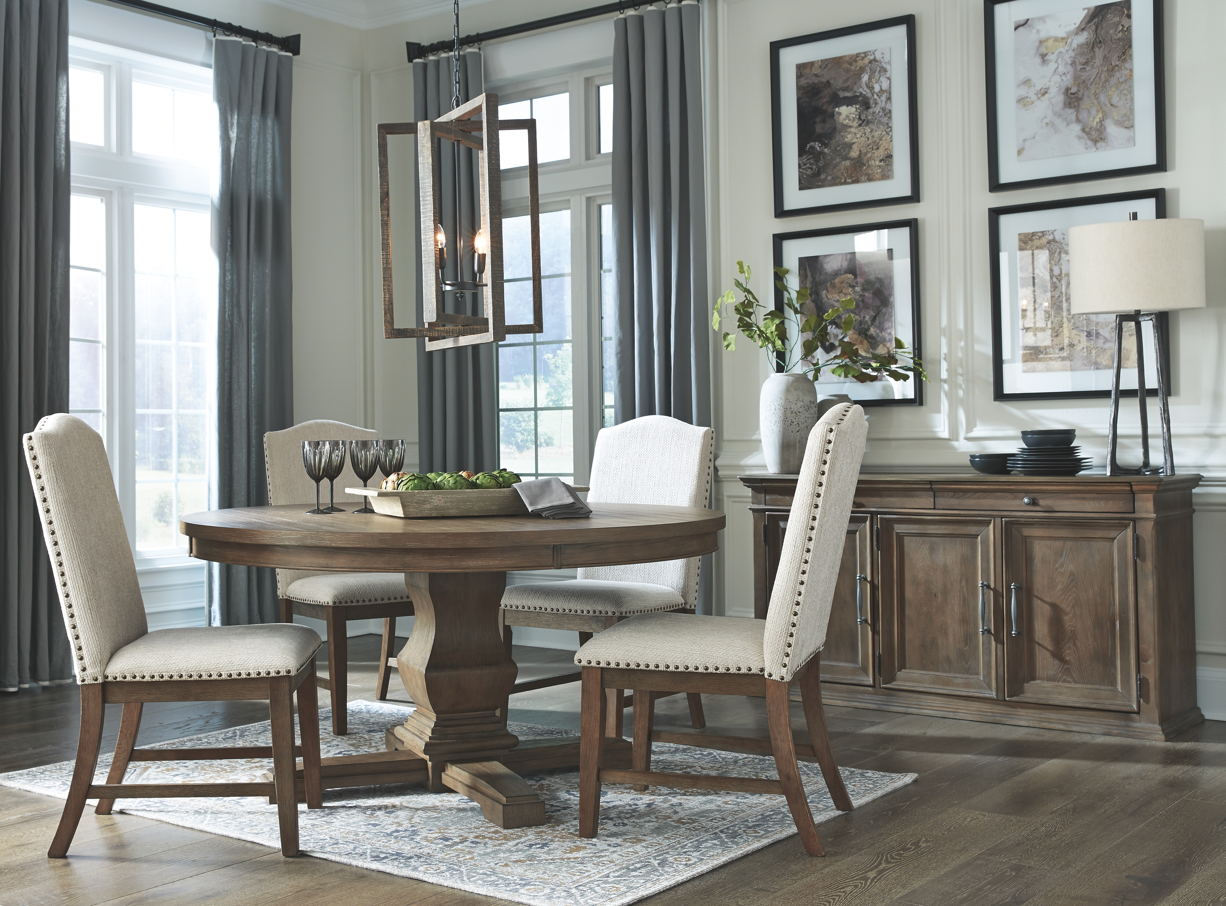 Johnelle Dining Room Table By Millennium By Ashley The Furniture Mall