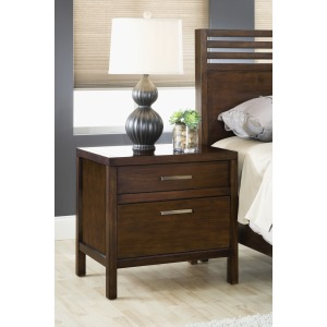 2-Drawer Charging Station Nightstand