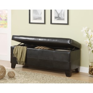 Milano Synthetic Leather Storage Bench