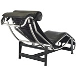 Charles Leather Chaise Lounge
