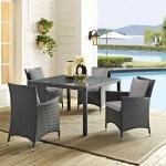 Sojourn 4 Piece Outdoor Patio Sunbrella® Dining Set