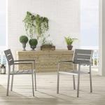 Shore Outdoor Patio Aluminum Dining Armchair Set of 2