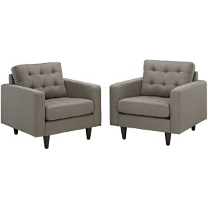 Empress Armchair Upholstered Fabric Set of 2