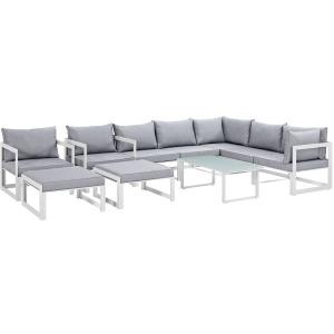 Fortuna 10 Piece Outdoor Patio Sectional Sofa Set